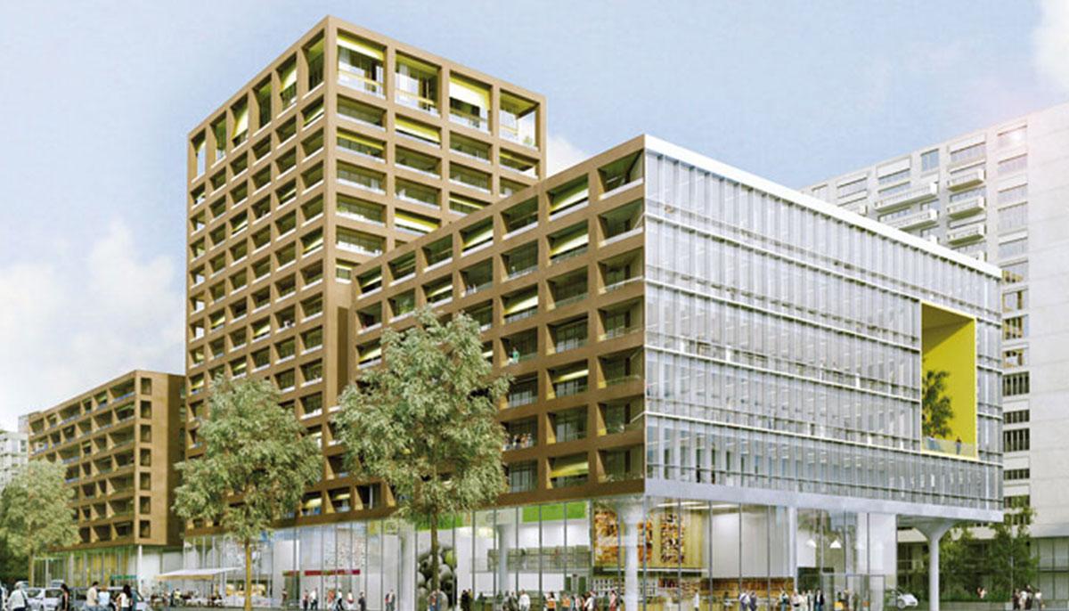 Îlot Desaix, Lyon (69), ECDM / Exndo architectures / Dumétier Design, 23500m²