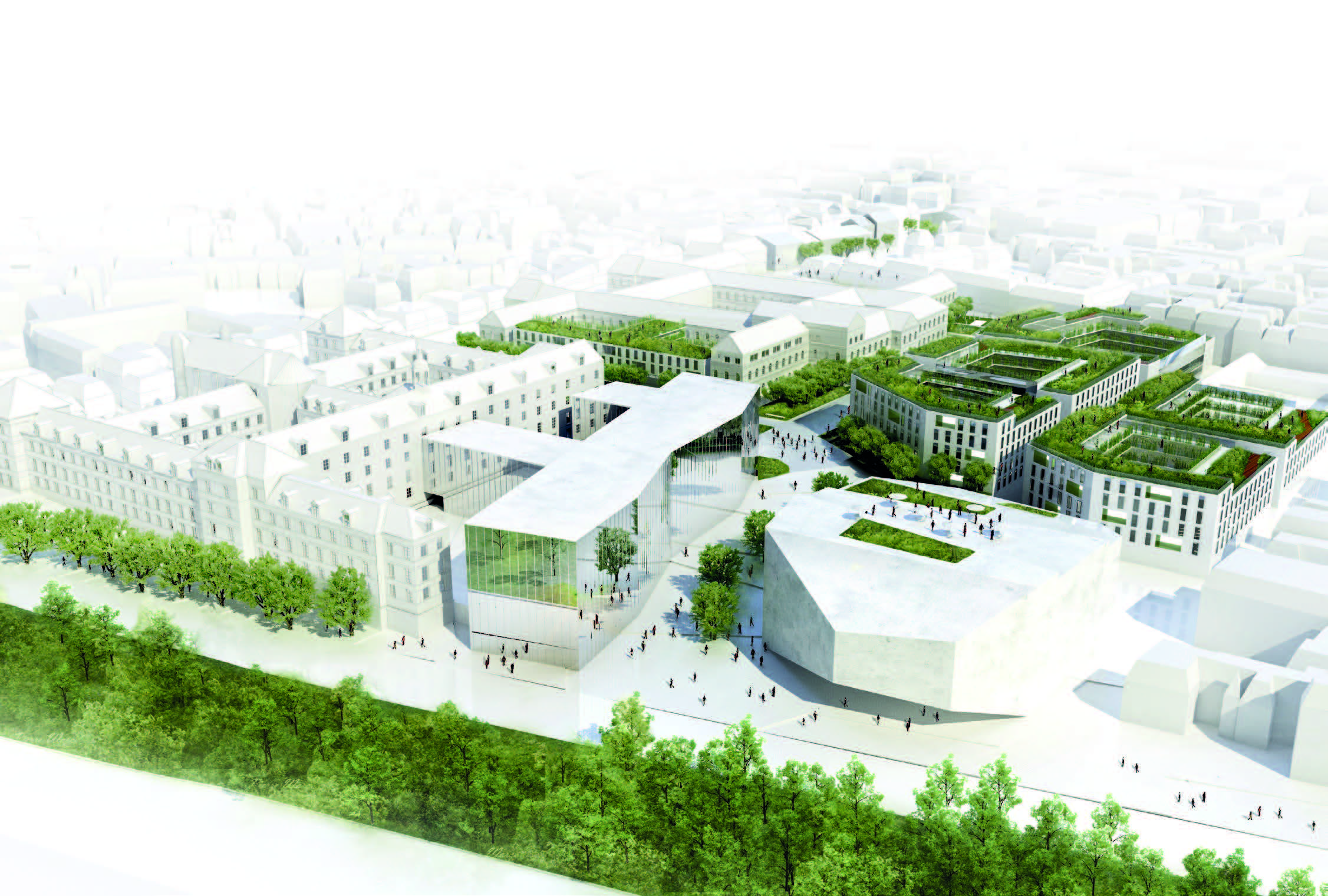 ZAC des Carmes, Orléans (45), Ferrier Marchetti Studio, 80 000m²